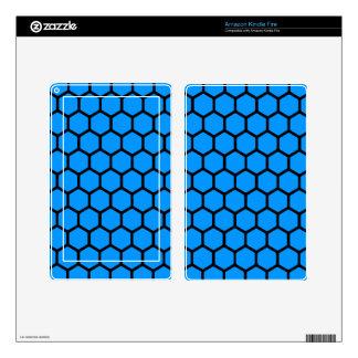 Aqua Hexagon 4 Kindle Fire Skin