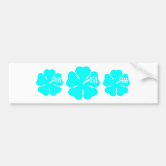 Aqua hibiscus flower bumper sticker