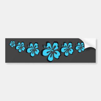 Aqua hibiscus flower Hawaiian Souvenir Bumper Sticker