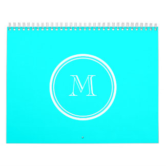 Aqua High End Colored Personalized Calendar