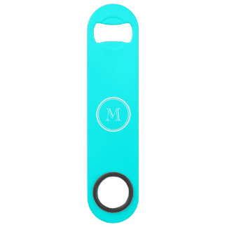 Aqua High End Colored Personalized Speed Bottle Opener