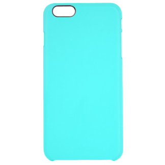 Aqua High End Solid Colored Uncommon Clearly™ Deflector iPhone 6 Plus Case