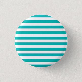 Aqua Horizontal Stripes Button