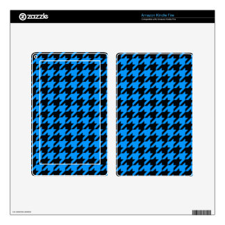 Aqua Houndstooth 2 Decal For Kindle Fire