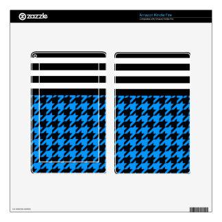 Aqua Houndstooth w/ Stripes 2 Kindle Fire Decals