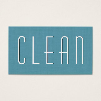 Aqua HOUSE CLEANING Simple Style V38 Business Card