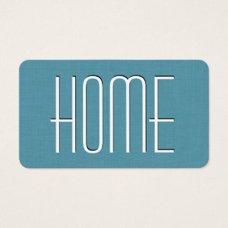 Aqua HOUSE SITTING Simple Style V63H Business Card