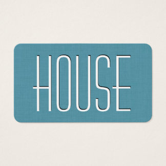 Aqua HOUSE SITTING Simple Style V63J Business Card
