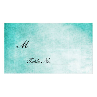 Aqua Hummingbird Watercolor Wedding Place Cards Double-Sided Standard Business Cards (Pack Of 100)