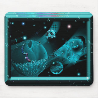 Aqua In Space Mouse Pad