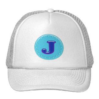 Aqua Initial J Trucker Hat