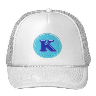 Aqua Initial K Trucker Hat