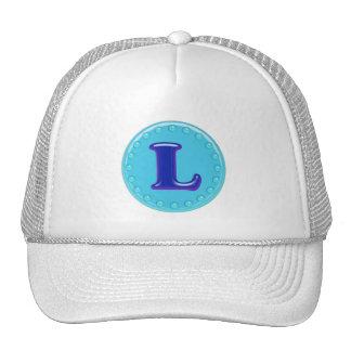 Aqua Initial L Trucker Hat