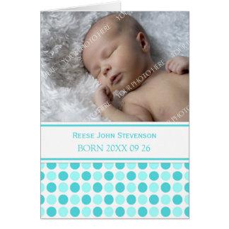 Aqua It's a Boy Photo Birth Announcement