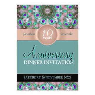 Aqua Jewels Anniversary Party Invitation