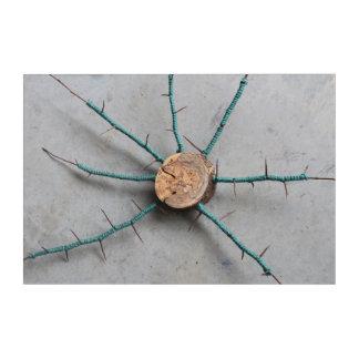 Aqua Jute & Wood Nature String Art Centered