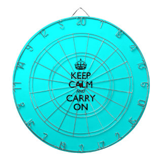 Aqua Keep Calm And Carry On Dart Boards