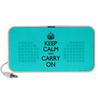 Aqua Keep Calm And Carry On Portable Speakers