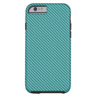 Aqua Kevlar Carbon Fiber Base Tough iPhone 6 Case