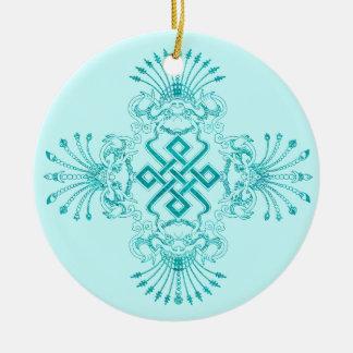 Aqua Kirttmukha Ornament