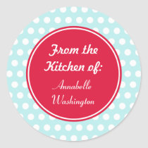 Aqua Kitchen Baking Gift Tags Stickers