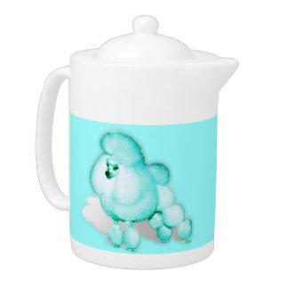 Aqua Kitchen Retro Poodle Teapot