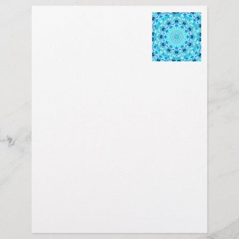 Aqua Lace, Delicate, Abstract Mandala