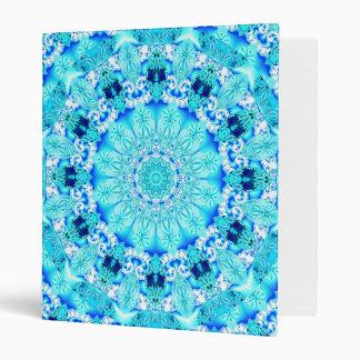 Aqua Lace, Delicate & Abstract Mandala 3 Ring Binder