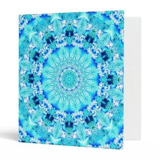 Aqua Lace, Delicate, Abstract Mandala Binder
