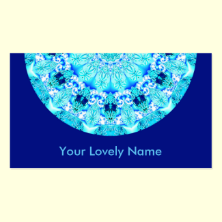 Aqua Lace, Delicate, Abstract Mandala Double-Sided Standard Business Cards (Pack Of 100)