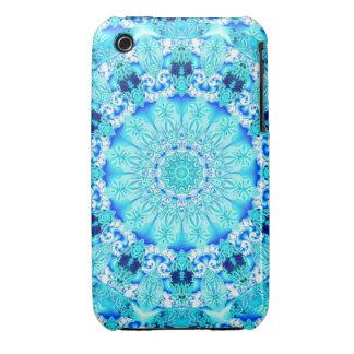 Aqua Lace, Delicate, Abstract Mandala Case-Mate iPhone 3 Case