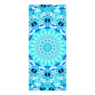 Aqua Lace Delicate Abstract Mandala Custom Invitations