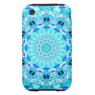 Aqua Lace, Delicate, Abstract Mandala iPhone 3 Tough Case