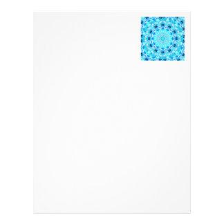 Aqua Lace, Delicate, Abstract Mandala Letterhead