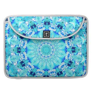 Aqua Lace, Delicate, Abstract Mandala MacBook Pro Sleeves