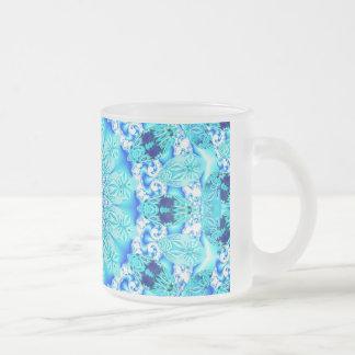 Aqua Lace, Delicate, Abstract Mandala Mugs