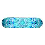 Aqua Lace, Delicate, Abstract Mandala Skate Board Decks