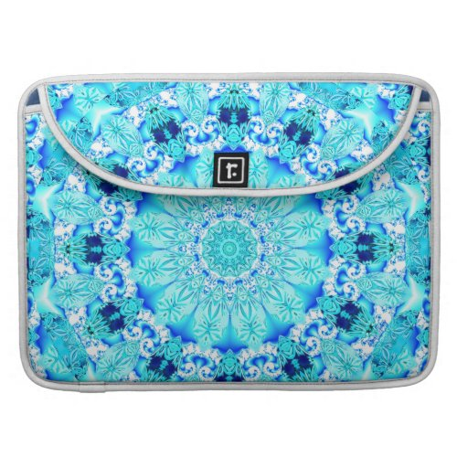 Aqua Lace, Delicate, Abstract Mandala Sleeve For MacBook Pro