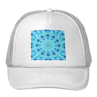 Aqua Lace, Delicate, Abstract Mandala Trucker Hat