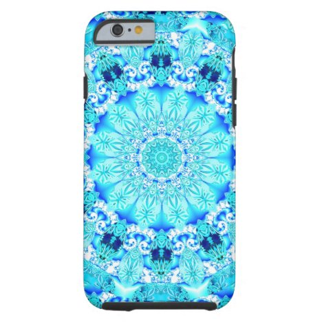 Aqua Lace, Delicate Tough iPhone 6 Case