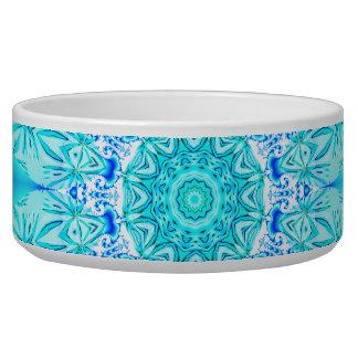 Aqua Lace Mandala, Delicate, Abstract Bowl