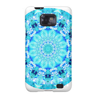 Aqua Lace Mandala, Delicate, Abstract Galaxy S2 Cover