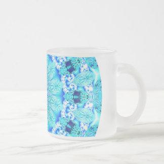 Aqua Lace Mandala, Delicate, Abstract Mug