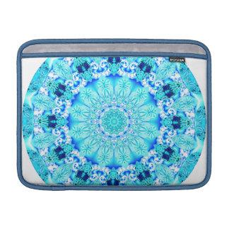 Aqua Lace Mandala, Delicate, Abstract Sleeve For MacBook Air