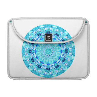 Aqua Lace Mandala, Delicate, Abstract Sleeve For MacBook Pro