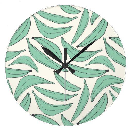 Aqua Large Clock