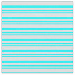 [ Thumbnail: Aqua & Lavender Colored Striped/Lined Pattern Fabric ]