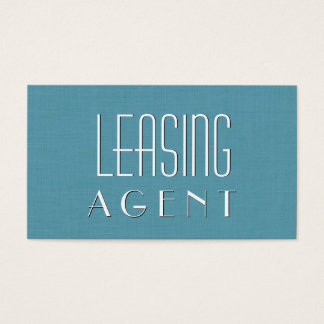 Aqua LEASING AGENT Simple Style V20 Business Card