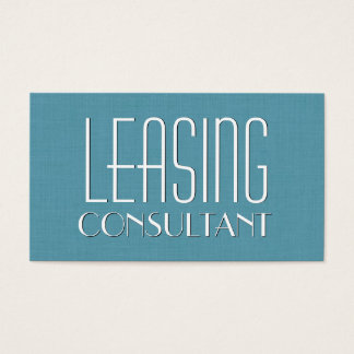 Aqua LEASING CONSULTANT Simple Style V14 Business Card