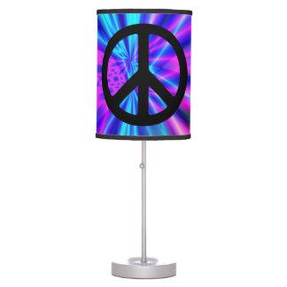 Aqua Light Show with Peace Sign Desk Lamp